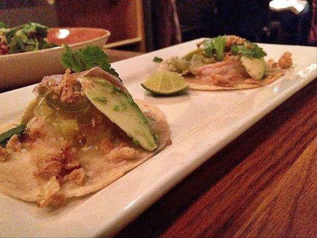 Spicy prawn taco
