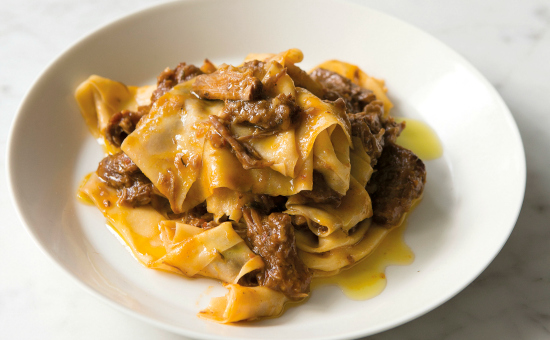 Papparedelle with oxtail rage - Photograph by Andy Sewell
